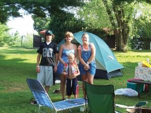 Budget tent camp sites