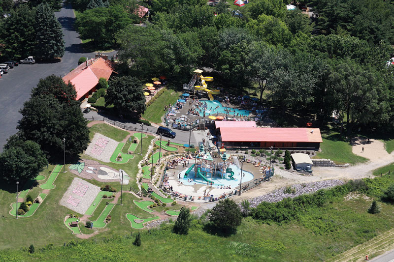 Water Playground Slides Pool Hot Tub At Jellystone Park